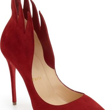 Christian Louboutin 'Victorina' Flame Topline Pointy Toe Pump (Women) | Nordstrom