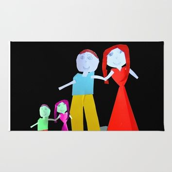 Dance me to the end of love | Kids Painting by Elisavet Rug by Azima