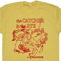 The Catcher In The Rye T Shirt Catcher in the Rye Shirt Cool Book Shirts Literary Tee