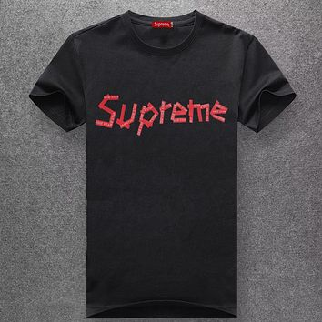 Supreme Fashion Casual Short Sleeve Top Tee