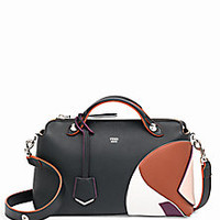 Fendi - By The Way Small Multicolor Marquetry Leather Satchel - Saks Fifth Avenue Mobile