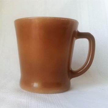 Vintage Anchor Hocking Fire King Mug Brown