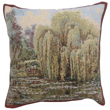 Bridge Monet's Garden  European Cushion