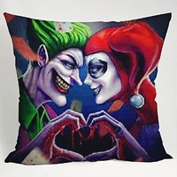 Jocker and Harley Quinn Pillow Case (16x16 two side)