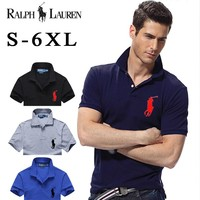 Hot Sale Ralph Lauren MEN Big Size Polo Shirt 100% COTTON TOP