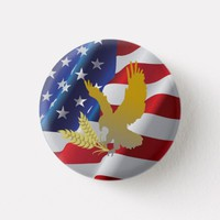 Custom American Flag With Eagle Button