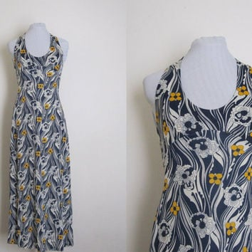 1970s Miss Dior Maxi dress Vintage maxi dress by AllengroveVintage