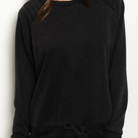 Lilly Charcoal Pullover Sweater