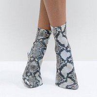 ASOS DESIGN snake print socks at asos.com