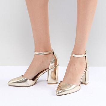 QUPID Pointed Block Heels at asos.com