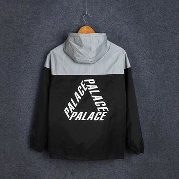 Palace 3M Reflective Jacket yeeus Skateboards Hoodies Men Patchwork Rib Sleeve Fashion Winbreaker For Men Hip-hop kanye west