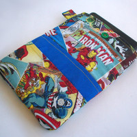 Marvel Comics Kindle Cover / The Avengers Comic Book Nook Case / Ereader Sleeve / Tablet