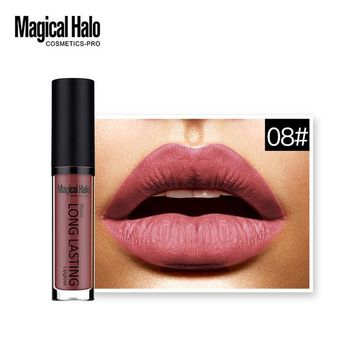 Brand Full Lips Matte Lip Gloss Lip Long Lasting Labial Gothic Dark Color Brown Black Gold Lipstick Matte Lips Maquillaje