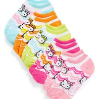 Toddler Girl's Hello Kitty Chevron Socks ,