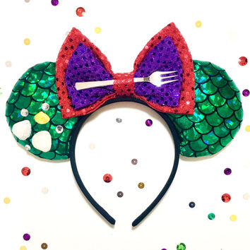 Disney inspired Princess Ariel the little mermaid Minnie Mickey Mouse ears