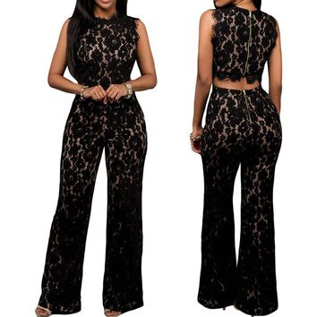 Jumpsuit Rompers Long pants Female Overall Playsuits Jacquard