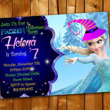 Frozen Birthday Invitation, Birthday Invitation for little boy and little girl