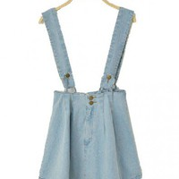 Denim Skirt with Braces