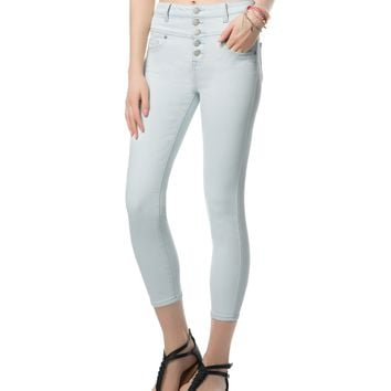 Aeropostale  Womens Bree High-Waisted Light Wash Cropped Jeggings