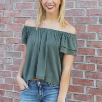 Fresh Air Top - Olive