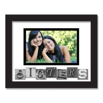 Sisters Sentiment Picture Frame in Black