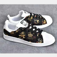 Adidas Stan smith x bear sports shoes black H-PSXY