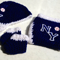New York Yankees Crochet Baby Infant Gift Set