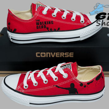 384faf93f2f Hand Painted Converse Low. The Walking Dead. Rick Grimes. Walker