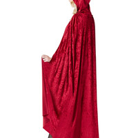 Burgundy Hooded Cape Adult Womens Costume – Spirit Halloween