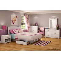 South Shore SoHo Full/Queen Storage Platform Bed with 2 Drawers, Multiple Finishes - Walmart.com