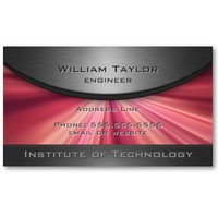 Magenta Metallic Elegance with QR code Business Card Templates from Zazzle.com