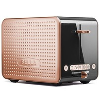 Bella Housewares | Dots Collection 2.0 2-Slice Toaster, Black and Copper in Collections Toasters and Toasters and kitchen appliances, colorful appliances, toasters, juicers, blenders