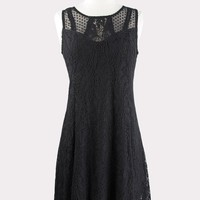 Mixed Lace Asymmetrical Dress