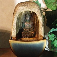 Buddha Tabletop Fountain with LED Lights