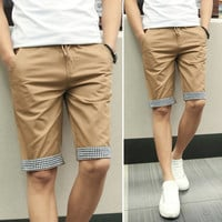 Mens Plaid Outline Shorts