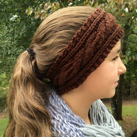 Cable Knit Headband, Cable Knit Earwarmer