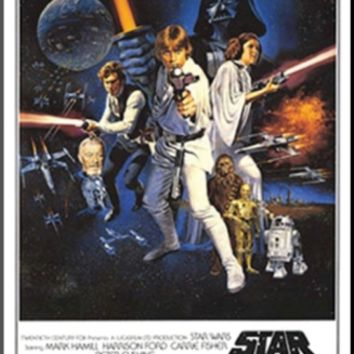 Star Wars - Episode IV New Hope - Classic Movie Poster Mounted Print at Art.com