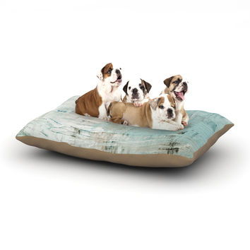 "Iris Lehnhardt ""Bluish Green"" Neutral Blue Dog Bed"