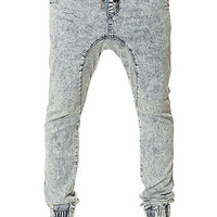 The Sureshot Denim Joggers in Blonde