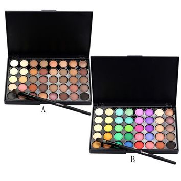 C809 Cosmetic Matte Eyeshadow Cream Makeup Palette Shimmer Set 40 Color+ Brush Set Makeup Set JU15
