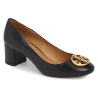 Tory Burch Women's Black Benton Pump, Size 7.5