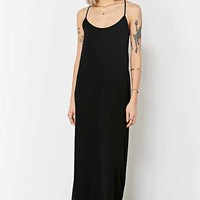 Oh My Love Gold Triangle-Back Maxi Dress - Black