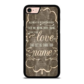 THE AVETT BROTHERS QUOTES iPhone 8 Case Cover