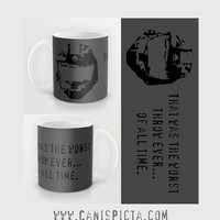 Halo Red vs Blue Wash RvB Mug Video Game 11 15 oz Cup Tea Coffee Gamer Spartan Fan Gift Quote For Him Guy Washington Marine Funny Grey Agent