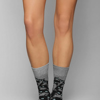 Pretty Snake Crazy Kitty Crew Sock - Urban Outfitters