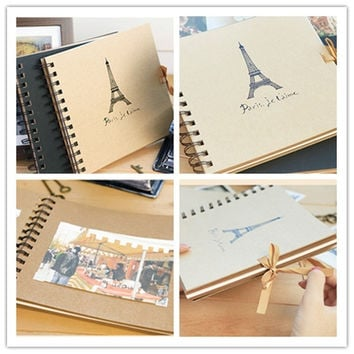 1PC Eiffel Tower Scrapbook Paper Photo Album DIY Gift 18.5cmx17.5cm = 1705619460