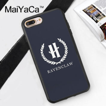 Ravenclaw Harry Potter Print Phone Case Skin Shell For iPhone 6 6S Plus 7 7 Plus 5 5S 5C SE 4 4S Rubber Soft Cell Housing Cover