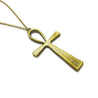 Egyptian Necklace, Ankh Necklace, Egyptian, for her, Cross, Handmade Gift, Under 30, Ankh Cross, Ankh Jewelry, Ank. ECN02