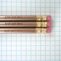 sh&t got real 3 gold pencil set.