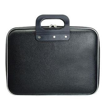 Black Faux Leather Notebook Case for Men & Women, 14 Inche Laptop